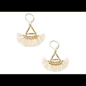 Nordstrom/shashi Lilu 14k Gold Pleated Earring